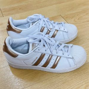 Adidas Women's Superstar Gold Stripes Sneakers 👟